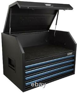 4 Drawer Tool Chest Steel Storage Cabinet with Power Strip 36 W x 24 D Top Hutch