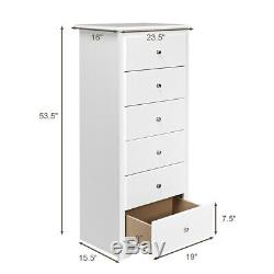 6 Drawer Chest Dresser Clothes Storage Bedroom Tall Home Cabinet White