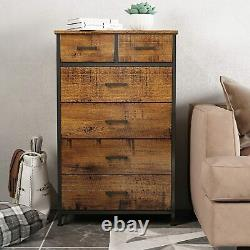 6 Drawers Storage Wood Chest of Dresser Clothes Organizer for Bedroom Cabinet