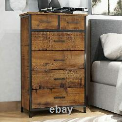 6 Drawers Storage Wood Chest of Dresser Clothes Organizer for Bedroom Cabinet US