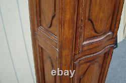 62214 Tall Carved Storage Cabinet Linen Cabinet Chest Bookcase Curio