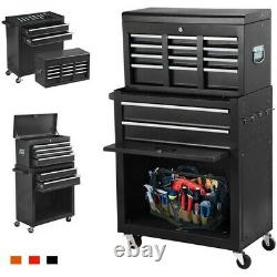 8-Drawer Rolling Tool Chest, Big Tool Storage Removable, Tool Cabinet with Lockabl