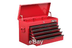 9 Drawer Tool Chest Heavy Duty Red Storage Ball Bearing Top Box Cabinet Hilka