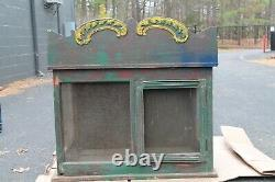 ANTIQUE WOOD PIE SAFE Unique cabinet chest with screens country store furniture