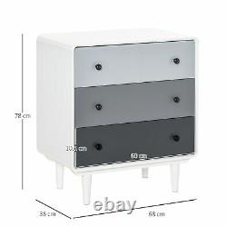 Chest of Drawers, 3 Drawer Storage Cabinet Home Organizer for Bedroom