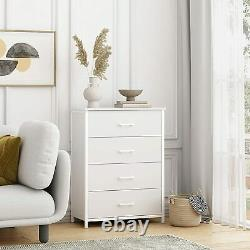 Chest of Dresser with4 Drawers Large Storage Cabinet Clothes Organizer for Bedroom