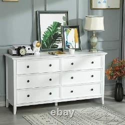 Chest of Dresser with6 Drawers for Bedroom Storage Tower Clothes Organizer Cabinet