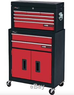 DRAPER 8 Drawer Red Metal Tool Chest Ball Bearing Rollers Storage Cabinet BOX