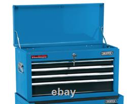 Draper 6 Drawer Blue Metal Tool Chest Ball Bearing Rollers Storage Cabinet Box