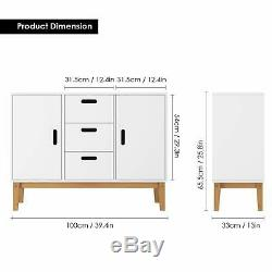 Floor Buffet Sideboard Storage Cabinet Console Side Table Cupboard Chest Drawer