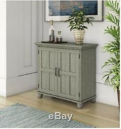 Gray Accent Cabinet Storage Wooden Table Entry Console Server Buffet Chest Hall