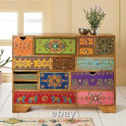 Hand Painted 14 Drawer Cabinet Chest Bedroom Living Room Storage