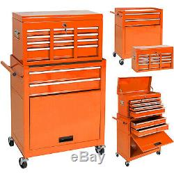 High Capacity Tool Storage Cabinet Rolling Tool Chest with Wheels Drawers Lockable