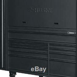 Husky 10 Drawer Tool Chest Cabinet Combo Mobile Storage Matte Black 80 In 3 Pcs