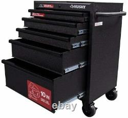 Husky 27 W 5-Drawer Rolling Tool Chest Box Cabinet Storage Mobile Workbench