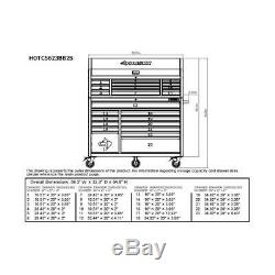 Husky 56 in 23-Drawer Combination Tool Chest Rolling Organizer Cabinet Storage