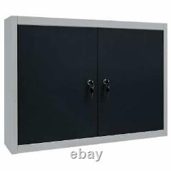 Industrial Style Wall Mounted Tool Cabinet Box Garage Storage Cupboard Chest
