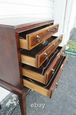 Inlay Mahogany Silver Chest Storage Cabinet Buffet by Thomasville 1776