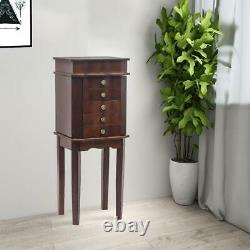 Jewelry Cabinet with Drawers&Mirror Armoire Storage Stand Chest Holder Christmas