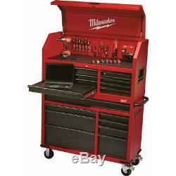 Milwaukee 46 in. 16-Drawer Steel Tool Chest and Rolling Cabinet Set, Textured