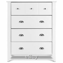 Modern 4-Drawers Chest Dresser Storage Cabinet Collection Home Furniure White
