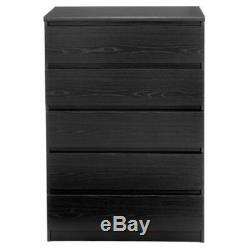 Modern Euro Style Bedroom Chest 5 Drawers Dresser Clothes Storage Cabinet New Bl