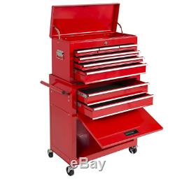 Portable Top Chest Rolling Tool Storage Box Cabinets Sliding Drawers Premium New