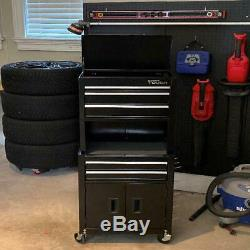 Rolling Tool Box Chest Storage Cabinet Combo Riser 20 Inch 5 Drawer Shop Garage