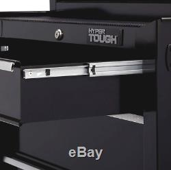 Rolling Tool Cabinet Storage Chest With 4 Drawer Ball Bearing Slides Garage Black