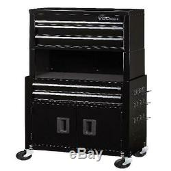 Rolling Tool Chest Box Cabinet Combo 5 Drawer Storage Organizer Case with Riser