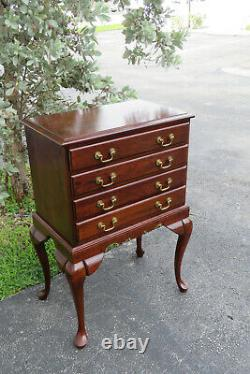 Solid Cherry Pair of Silver Chests Storage Cabinets Tall Bedside Tables 1603