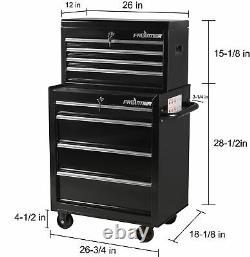 Tool Box Chest Metal Cabinet 26 4 Top Storage Drawers Workshop Equipment Home