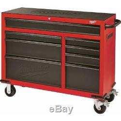 Tool Chest Rolling Cabinet Set 46 in. 16-Drawer Wheel Locks Steel Red Milwaukee