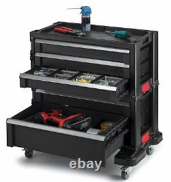 Tool Chest Toolbox Roller Cabinet 5 Drawer Heavy Duty Tools Storage Box Black