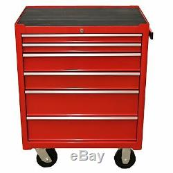 Toolbox 6 Draws Tool Chest Storage Cabinet Roller Cab Ball Bearing Runners