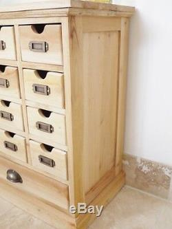 Unfinished Cabinet multi drawer chest 13 drawers assembled vintage chest