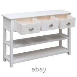 VidaXL Sideboard White Wood Storage Cabinet Chest Buffet Home Furniture Stand