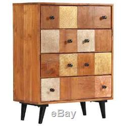VidaXL Solid Acacia Wood Chest of Drawers Sturdy Sideboard Storage Cabinet