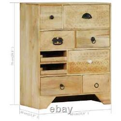 VidaXL Solid Mango Wood Chest of Drawers Side Cabinet Sideboard Storage Chest
