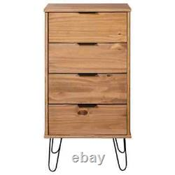 VidaXL Solid Pine Wood Drawer Cabinet Chest of Drawers Storage Wooden Cabinet