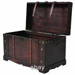 Vintage Coffee Table Treasure Chest Wood Storage Display Cabinet Antique Box new