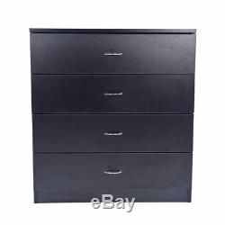 4 Tiroirs Commode Commode Clothes Organizer Rangement Chambre Cabinet Accueil Meubles