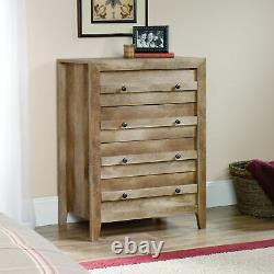 4-tiroir Commode Commode Chest Clothes Storage Bedroom Cabinet Transitional Rustic Wood
