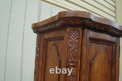 62214 Tall Carved Storage Cabinet Linge Cabinet Chest Bibliothèque Curio