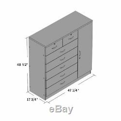 7 Tiroirs Noir Commode Commode Armoire Commode Cabinet Chambre Meubles