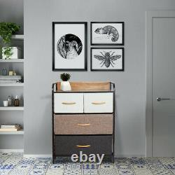 Commod Cabinet Set Chest Of Fabric Drawers Bedroom Storage Tower Bins Organisateur