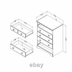 Country Style Tall 5-drawer Dresser Chest Clothes Organizer Storage Cabinet Bleu