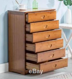 Drawer Moderne Bambou Solide Cabinet Table Chambre Stockage Choix Élégant