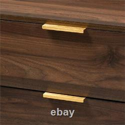 Mid-century Modern 3-drawer Dresser Accent Chest Storage Organisateur Cabinet Brown