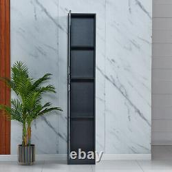 Modern Storage Cabinet Organisateur Chest Pantry Armoire High Gloss Living Room Us